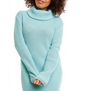Sweaters - NEW Mint Green Cowl Neck Sweater Tunic Medium